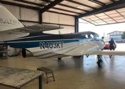 Stratos Jet Custom Aircraft Paint Job